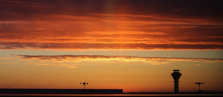 Sunset at Pearson airport
