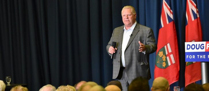 Conservative leader of the Ontario Government, Doug Ford, speaks using language to evoke fear and rejection