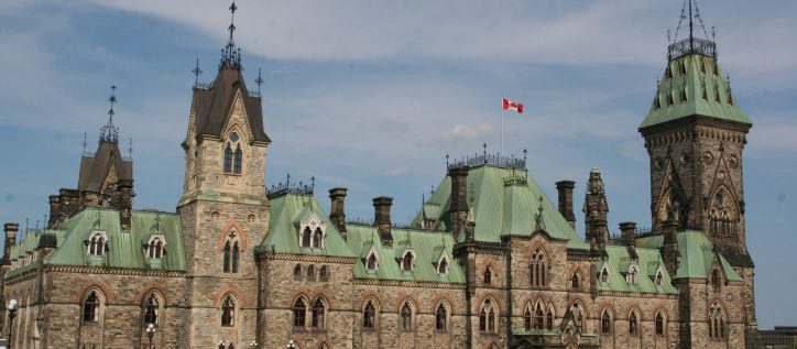 View of the Canadian Parliament buildings