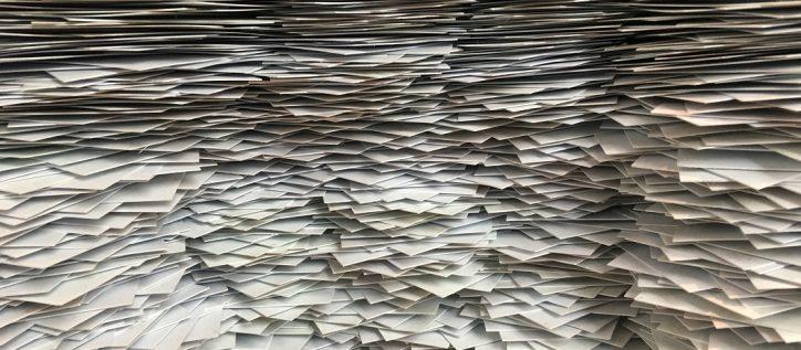 massive pile of paperwork