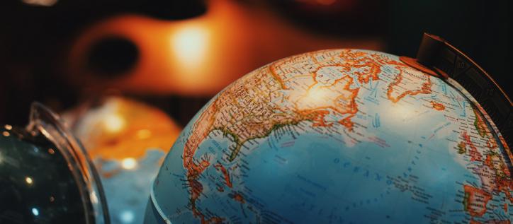 desk globe focused on Canada