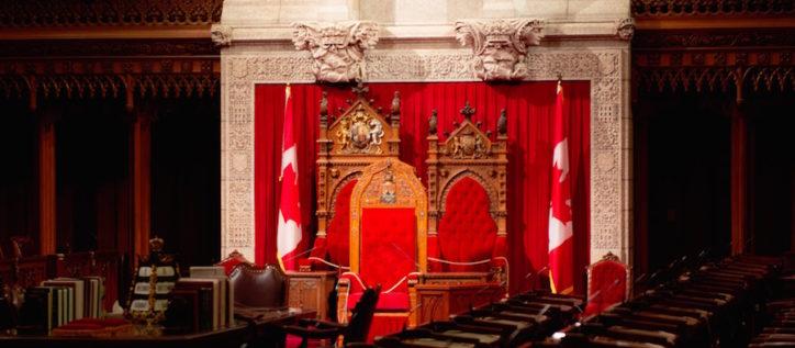Canada throne in parliament
