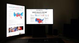 News article about Joe Biden winning the election